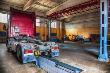 Truck or lorry repair shop service