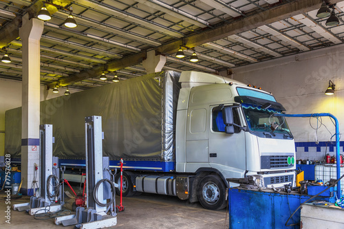 Truck or lorry repair shop service