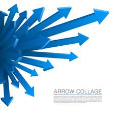 Arrow explosion blue
