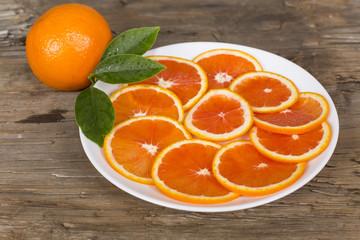 red orange sliced