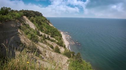Shot of the nice cliff near Piran
