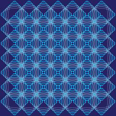 blue geometric ornament like waves