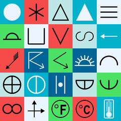 Weather forecast symbol collection