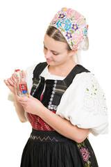 jeune femme buvait alcool