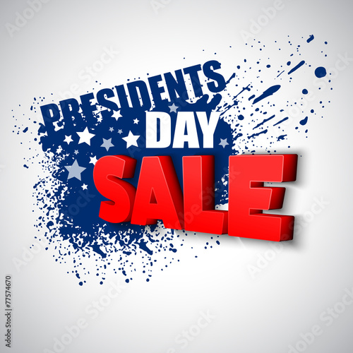 Presidents Day Vector Background - 77574670