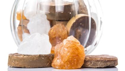Mix sugar variety in a glass jar