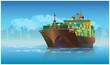 large cargo ship - 77575408