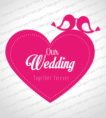 Wedding day design, vector illustration.