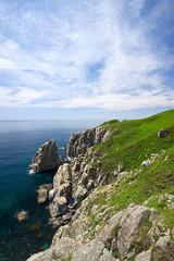 Rocky coast of the East Sea.