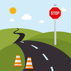 Road design, vector illustration.