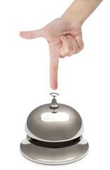 Finger Ringing Hotel Bell
