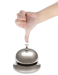 Female Finger Ringing Hotel Bell