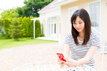 young asian woman relaxing lifestyle image