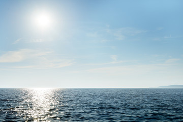 Peaceful seascape at midday