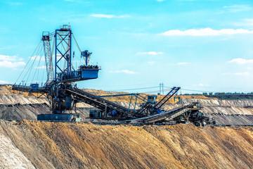 Landscape with mine machine