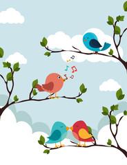 Bird design, vector illustration.