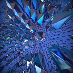 Abstract 3d crystal background. Computer generated image.