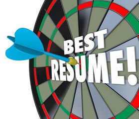 Best Resume Dart Hitting Board Skills Experience Reference Educa
