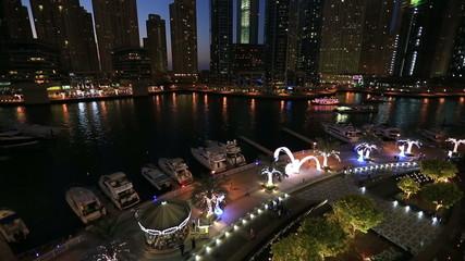 Futuristic Dubai at night
