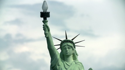 Upper part of Statue of Liberty in New York, USA