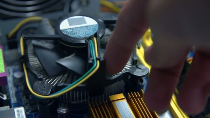 Testing fan turning in personal computer