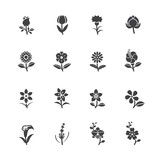 Fototapety Flower Icons for Pattern