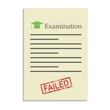 Examination paper with failed stamp poster