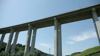 Driving below the viadukt in Slovenia