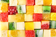 Leinwandbild Motiv Sliced fruits background