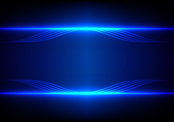 abstract line blue light effect background