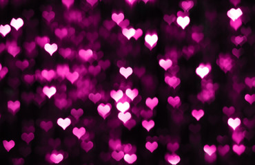 Dark valentine background with purple hearts