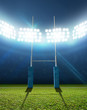 canvas print picture - Rugby Stadium And Posts