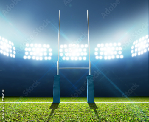 Rugby Stadium And Posts - 77592238