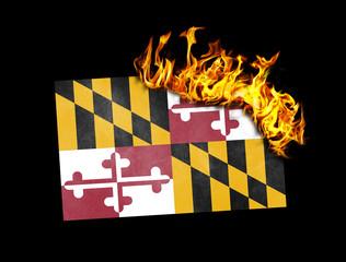 Flag burning - Maryland