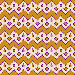 Seamless aztec pattern zigzag geometrical background