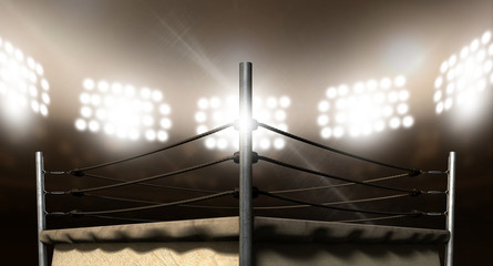 Vintage Boxing Ring In Arena