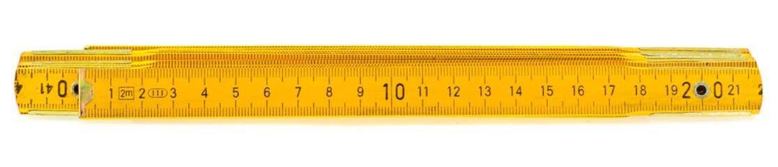 mètre pliant bois de menuisier