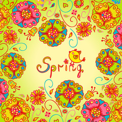 Figure spring flowers, colorful background