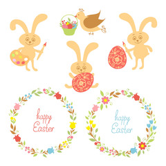 set for Easter with Easter items
