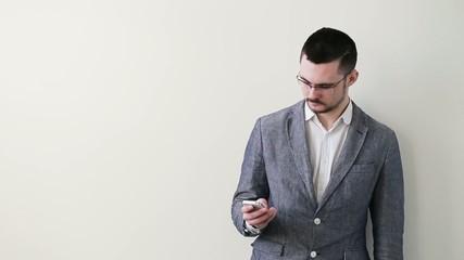 businessman portrait with phone