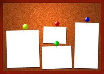Pinnwand mit Zettel - Corkboard