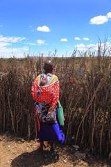 Kenya,parco Masai Mara,donna
