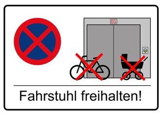 fahrstuhl freihalten
