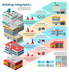 Buildings Infographics Set