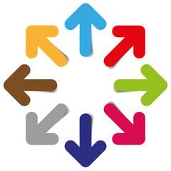 color arrows vector graphic