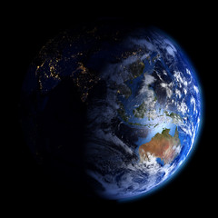 Day and night on planet Earth.