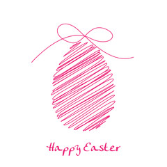 Vector scibble pink easter egg