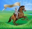 Knight and Horse with banner