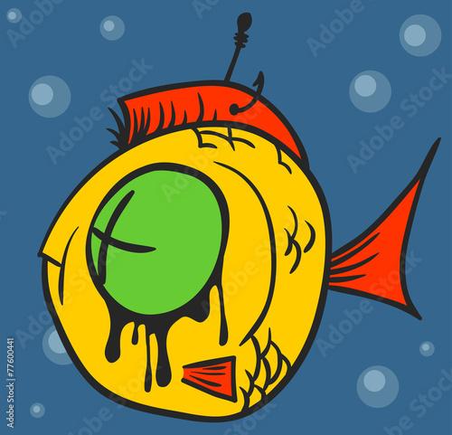 Obraz Dead Fish Graffiti