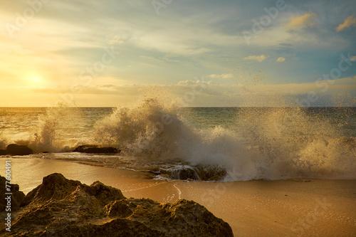 Aluminium Indonesië Amazing beach destination sunrise or sunset with beautiful brea